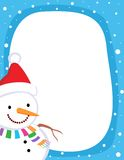 Snowman border / frame Royalty Free Stock Photo