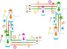 Snowman borders Royalty Free Stock Images