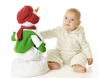 Snowman Buddy Stock Image