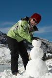 snowman budowlanych Obrazy Royalty Free