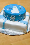 Snowman Cake royalty free stock images