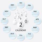 Snowman Calendar Art 2014 Stock Image