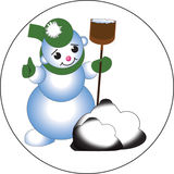 Snowman. Can be placed on the website or in the book royalty free illustration