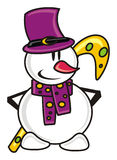 Snowman with candy Royalty Free Stock Images