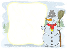 Snowman card Stock Image
