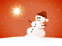 Snowman card Royalty Free Stock Photography