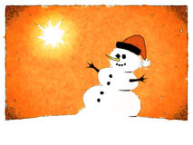 Snowman card Stock Photos