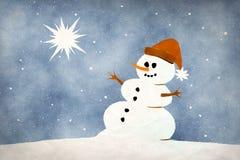 Snowman card Stock Photo