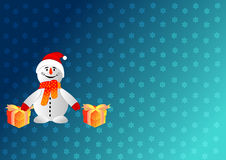 Snowman card Royalty Free Stock Photo