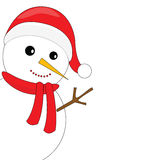 Snowman Card. Snowman on the white background Stock Images