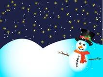 Snowman card Royalty Free Stock Photo