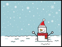 Snowman cartoon Royalty Free Stock Image