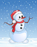 Snowman cartoon Stock Photography