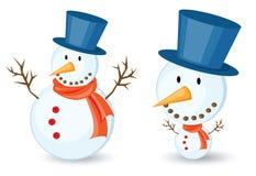 Snowman cartoon Stock Image