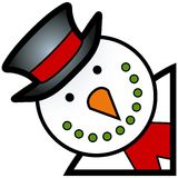 Snowman cartoon Stock Image