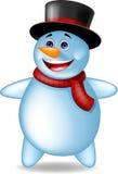 Snowman cartoon Royalty Free Stock Photo