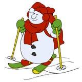 Snowman cartoon character Stock Photos