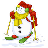 Snowman cartoon character Royalty Free Stock Images