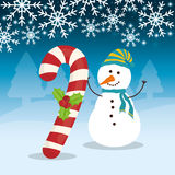 Snowman cartoon of Chistmas design Stock Photography