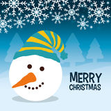 Snowman cartoon of Chistmas design Stock Photo
