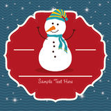 Snowman cartoon of Chistmas design Royalty Free Stock Images