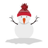 Snowman cartoon icon. Snowman with hat cartoon icon. Merry Christmas season decoration figure theme. Isolated design. Vector illustration Royalty Free Stock Photography