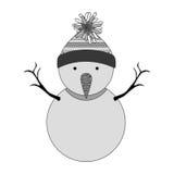 Snowman cartoon icon. Snowman with hat cartoon icon. Merry Christmas season decoration figure theme. Isolated design. Vector illustration Stock Photo