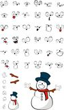 Snowman cartoon set. In format very easy to edit royalty free illustration