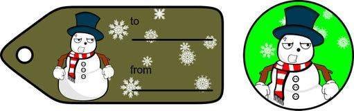 Snowman cartoon xmas giftcard9 Royalty Free Stock Image