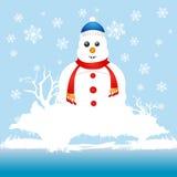 Snowman character Royalty Free Stock Photos
