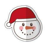 Snowman character christmas card Stock Photos