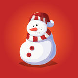 Snowman Character Design for Christmas Stock Image