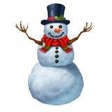 Snowman Character Stock Photo