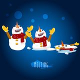 Snowman character -  Stock Photos