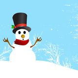 Snowman character vector Royalty Free Stock Photos