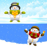 Snowman characters Royalty Free Stock Images
