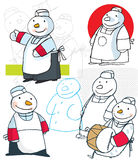 Snowman Chef Royalty Free Stock Images