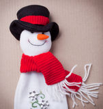 Snowman for Chirstmas. Decoration on white background Royalty Free Stock Photography