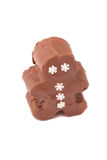 Snowman chocolate fudge chunk Stock Photography