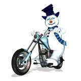 Snowman Chopper 1 Royalty Free Stock Photos