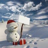 Snowman at Christmas Royalty Free Stock Photo