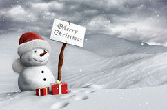 Snowman at Christmas Royalty Free Stock Photography