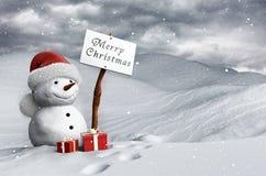 Snowman at Christmas Royalty Free Stock Photography