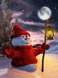 Snowman at Christmas Royalty Free Stock Image