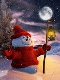 Snowman at Christmas Royalty Free Stock Image