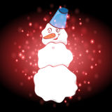 Snowman with Christmas background and greeting card vector Royalty Free Stock Photo