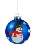 Snowman Christmas ball Stock Photography