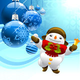 Snowman with christmas balls Stock Image