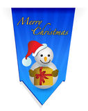 Snowman christmas banner illustration Royalty Free Stock Photo