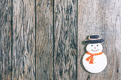 Snowman, Christmas border. Royalty Free Stock Images
